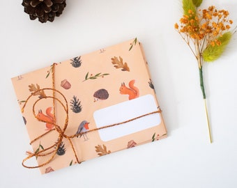 """""""Animals of the Forest"""" envelopes for creative correspondence or leisure, scrapbooking, penpal, art journal"""
