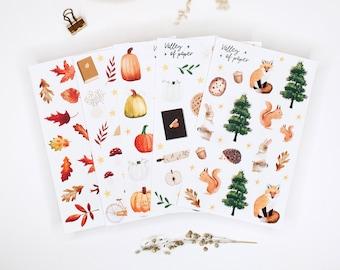4 sticker boards - 1 offered Autumn 2020 for bullet newspaper, scrapbooking, carterie