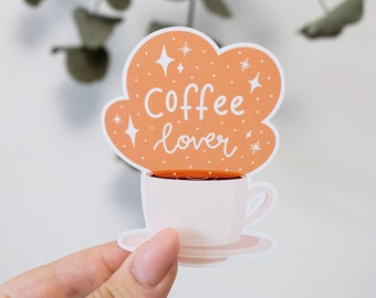 """Sticker """"Coffee lover"""" for computer, notebook, suitcase, wall"""