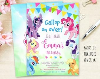 My Little Pony Invitation Birthday Party Digital File