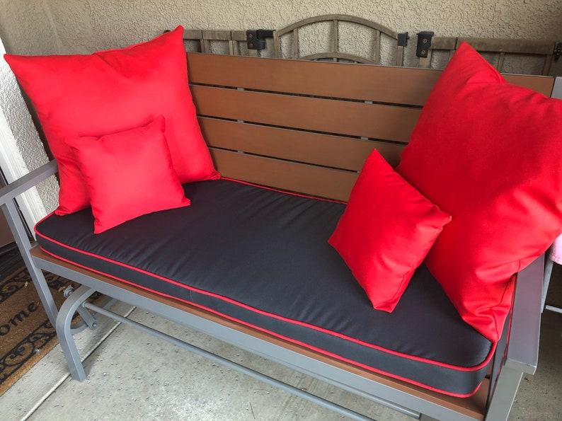 Ordinaire Outdoor Foam Sunbrella Bench Cushion