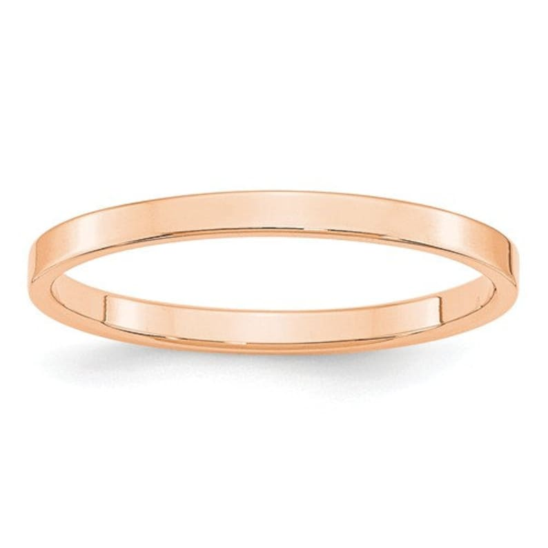 d6eacb825 10K Solid Rose Gold 2mm Flat Men's and Women's Wedding   Etsy