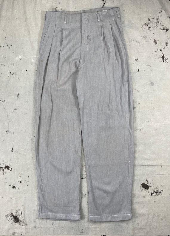 Vintage 1950's Faded Gray Reston Gabardine Pants