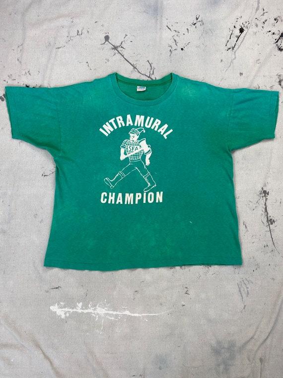 """Vintage 1970's Champion Blue Bar """"Intramural Champ"""