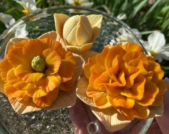 Daffodil flowers set of 3 molds daffodil silicone molds 3D daffodil mold daffodil soap mold soap molds flower molds candle molds daffodil