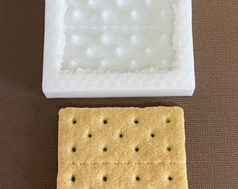 Graham cracker silicone mold crackers cookie mold cookies mold food mold fake bake molds soap mold soap molds candle molds sandwich cookie
