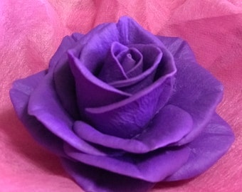 Purple rose flower silicone mold soap mold flower mold silicone soap molds flower molds rose mold rose molds candle mold baking mold