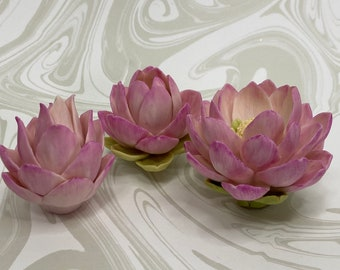 Lotus flower set of three silicone molds lotus mold flower mold soap mold flower soap molds lotus mold silicone candle molds craft molds