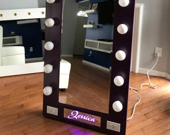 Full Length Mirror With Lights Etsy