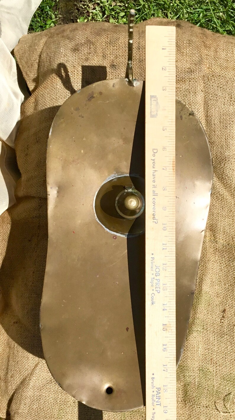 19x12 Brass Oil Lamp Aladdin Genie Dreamy Vintage Collectible MCM Patina Hammer