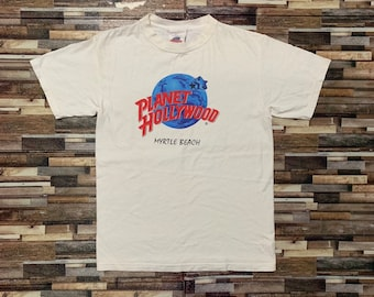 ec62a6f8 Vintage planet hollywood myrtle beach 90s shirt
