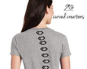 e4568f10 Scoliosis Shirt, Customized t-shirt made from YOUR spinal X-ray! Got  Scoliosis? Get a CurvaTee!