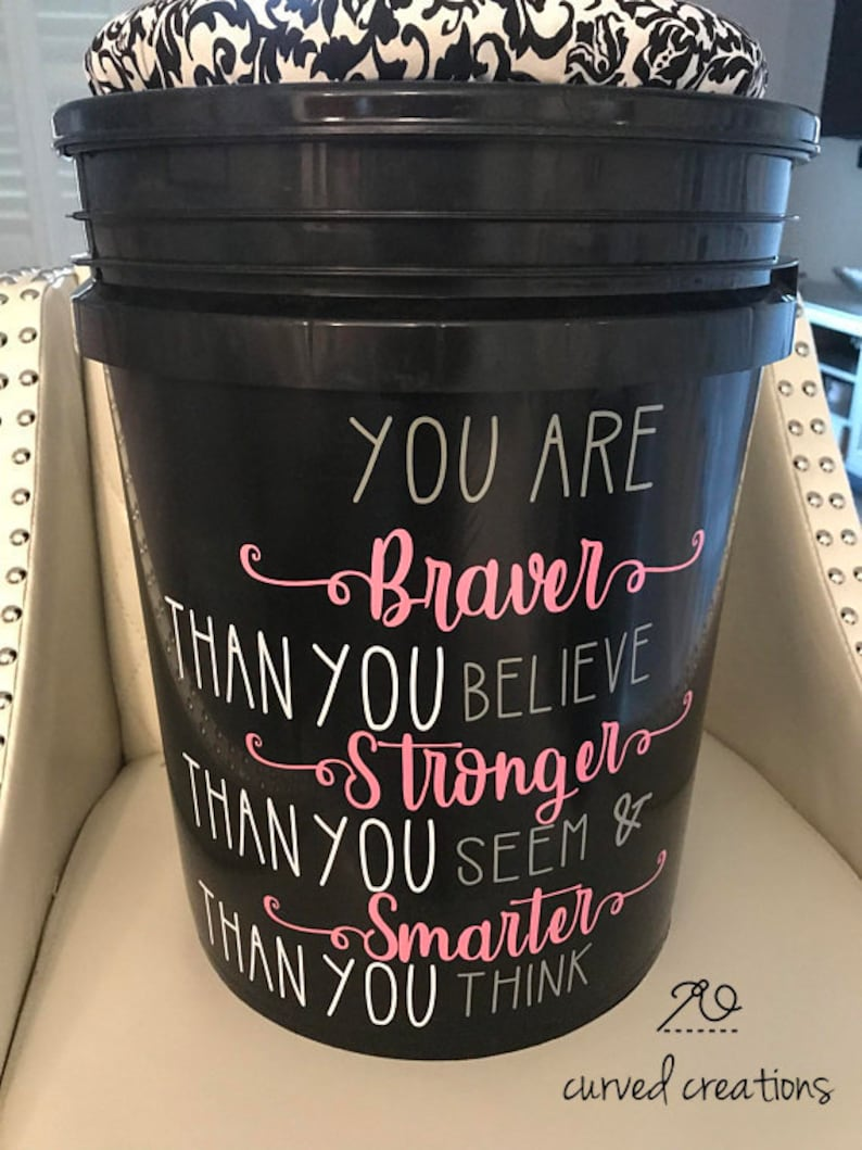 5 Gallon Bucket With Seat Cushion Lid And Decal Quote Flexible Seating Bucket Seats Crate Seats Classroom Decor Classroom Storage
