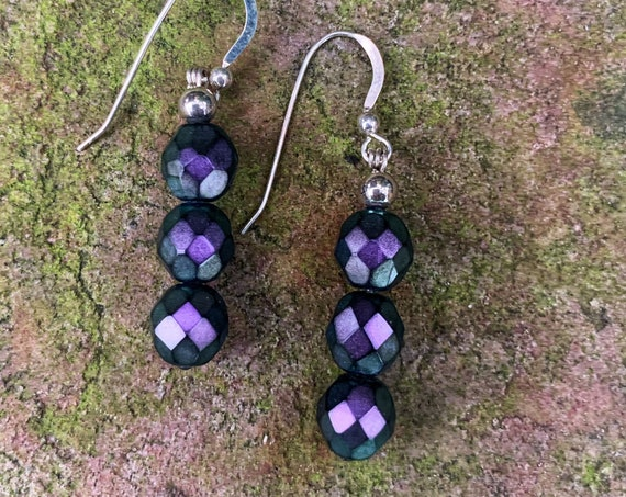 Czech Glass Line Earrings