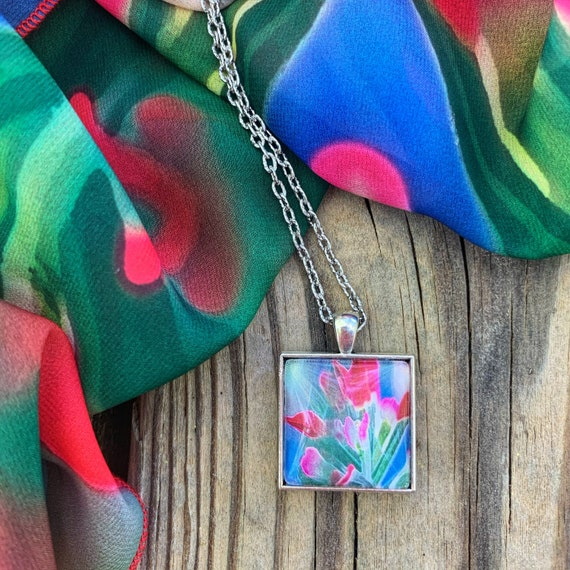 Portraits of Nature, Indian Paintbrush Pendant Necklace