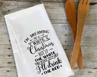 Christmas tea towel | Etsy
