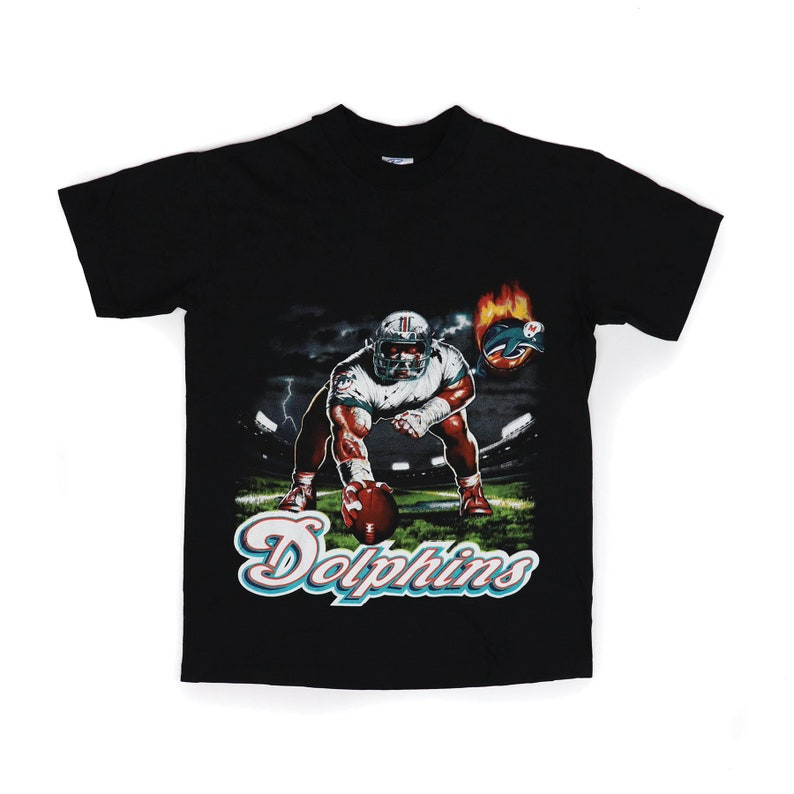 the best attitude d813e acc1d Vintage NFL - Miami Dolphins Angry Dog Flame T-Shirt - Size Small