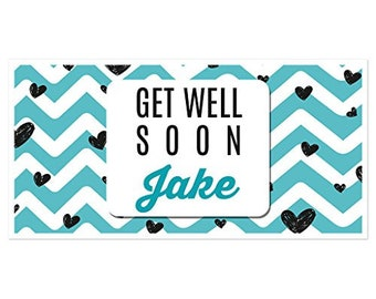 Get Well Soon Teeth Pun Personalized Banner Party Decoration