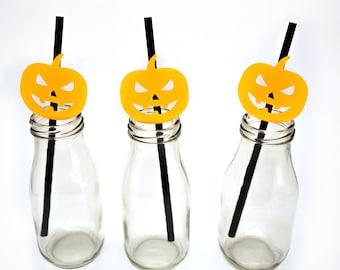 Beistle 4-Pack Jack-O-Lantern Straws