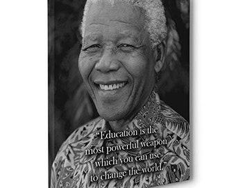 Nelson Mandela Cite L éducation Est L Arme La Plus Etsy