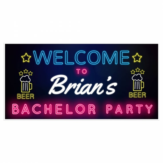 Bachelor Party Personalized Banner