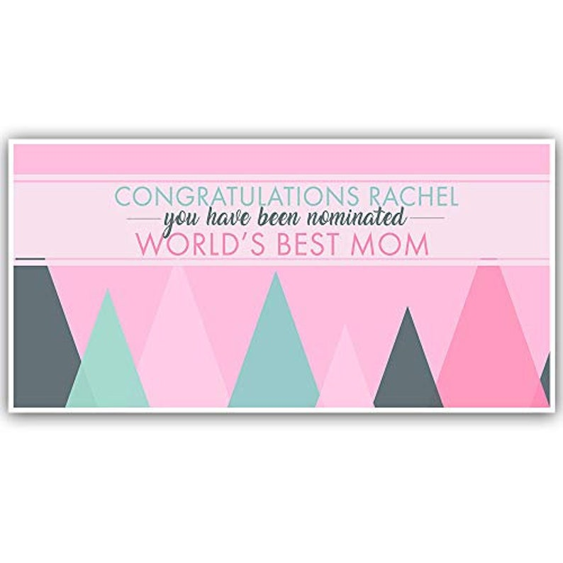 Congratulations World/'s Best Mom Personalized Banner Decoration