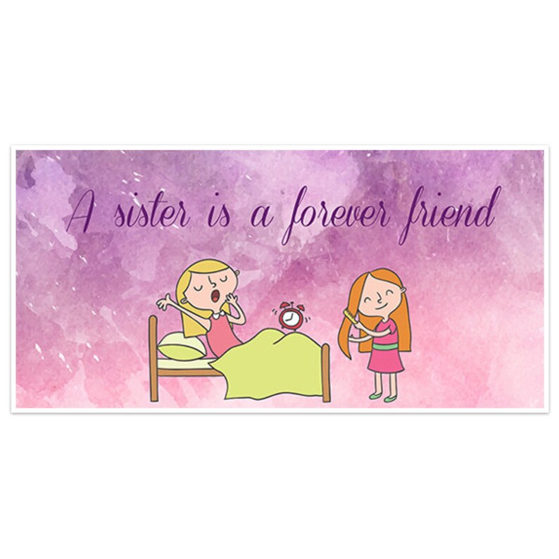 Watercolor Happy Sister's Day Banner