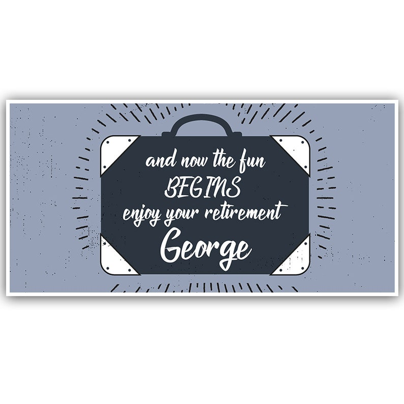 Suitcase Retirement Personalized Banner