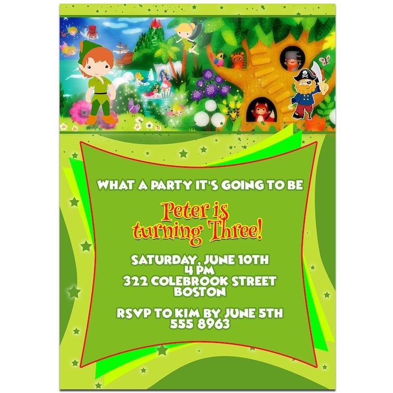Blue Bokeh /& Stars 10th Personalised Birthday Party Invitations
