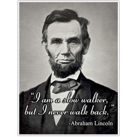 Abraham Lincoln Motivation Quote Wall Art Poster