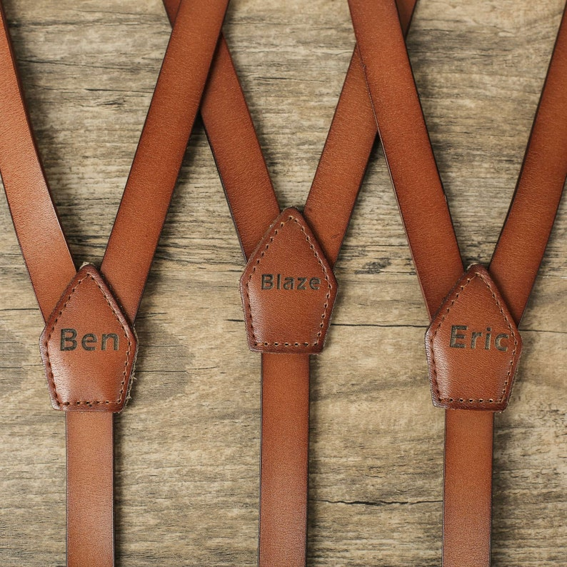 Personalized Gifts For Men Suspender Groomsmen Suspenders Mens image 0