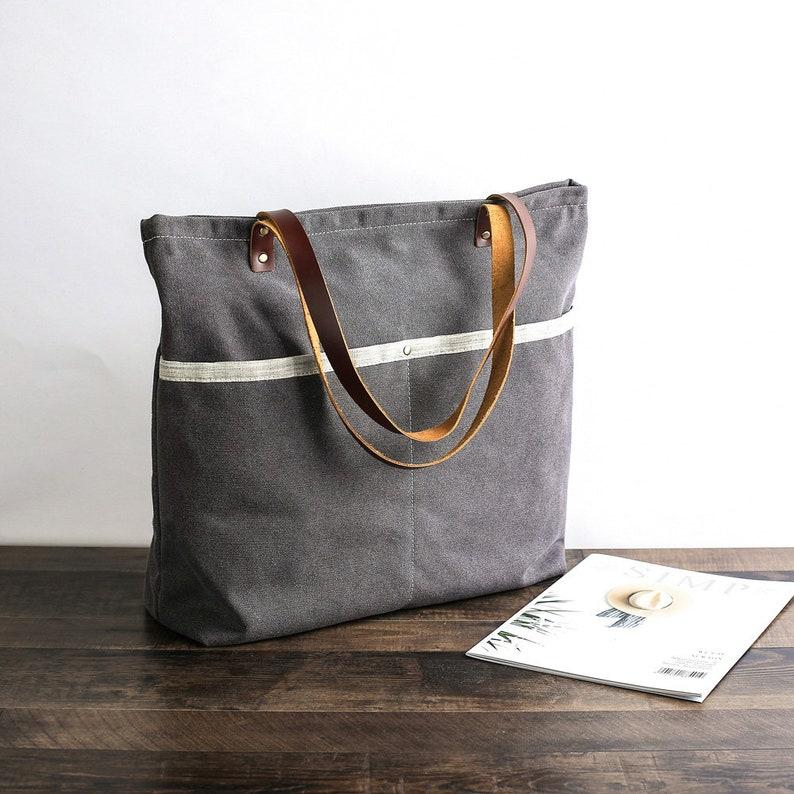55a06751e Handmade Women Tote Bag Canvas Tote Bag Shoulder Bag Laptop | Etsy