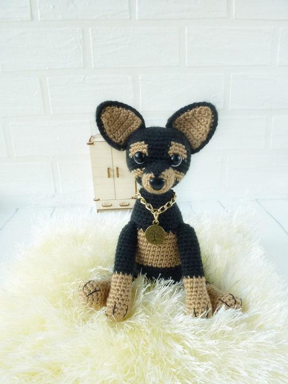 Chihuahua Crochet Dog Amigurumi Miniature Handmade Doll Cute Animal Keychains