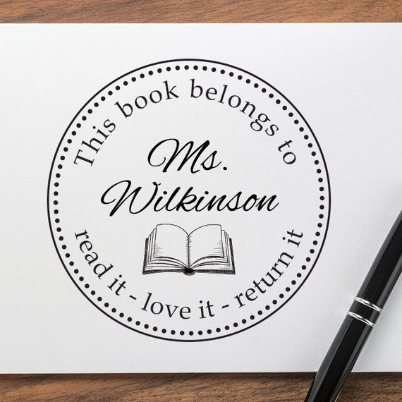Personalized Library Stamp Book Lover Stamps From The Library Of Self-inking Stamp STP 2 Pre-inked Rubber Stamp Custom Address Stamp