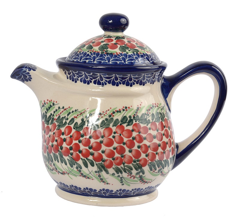 Boleslawiec Polish Pottery Teapot Attractive And Durable Polish Pottery