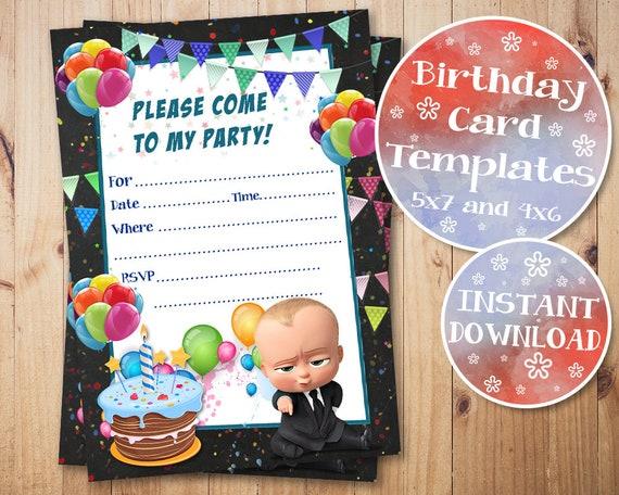 Boss Baby Fill In Invitations Birthday Invitation