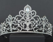 Bridal Tiara Silver Tiara Crystal Bridal Crown Bridal Diadem Wedding Tiara Dimond Tiara Swarovski Tiara for bride Zirconia Crown CZ