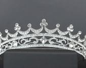 Bridal Tiara, Crown, Silver Tiara, Crystal Bridal Crown Bridal Diadem Wedding Tiara Dimond Tiara Swarovski Crown for bride Zirconia Crown CZ