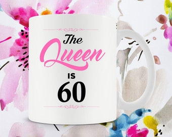 60th Birthday Gifts For Women Bday Gift Ideas Her Best Coffee Cup 60 Years Old Ceramic Mug