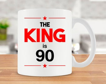 Grandpa Birthday Gift 90th Ideas For Him Coffee Mugs Men Bday Present Tea Cup 90 Years Old Ceramic Mug