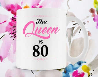 80th Birthday Gift Ideas For Her Mug Coffee Cup Grandma Women 80 Years Old Ceramic
