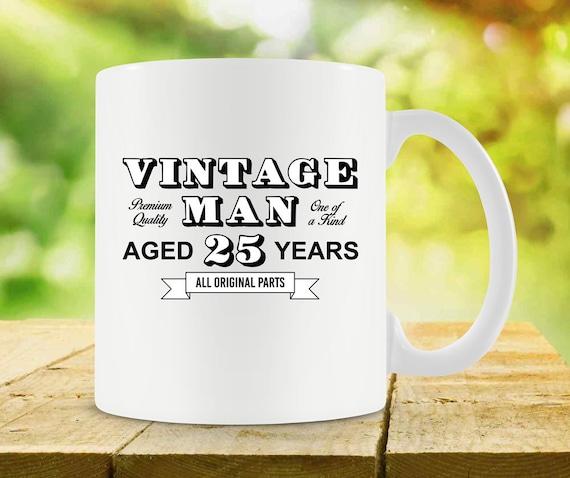 25th Birthday Gift Ideas For Him Mug Bday