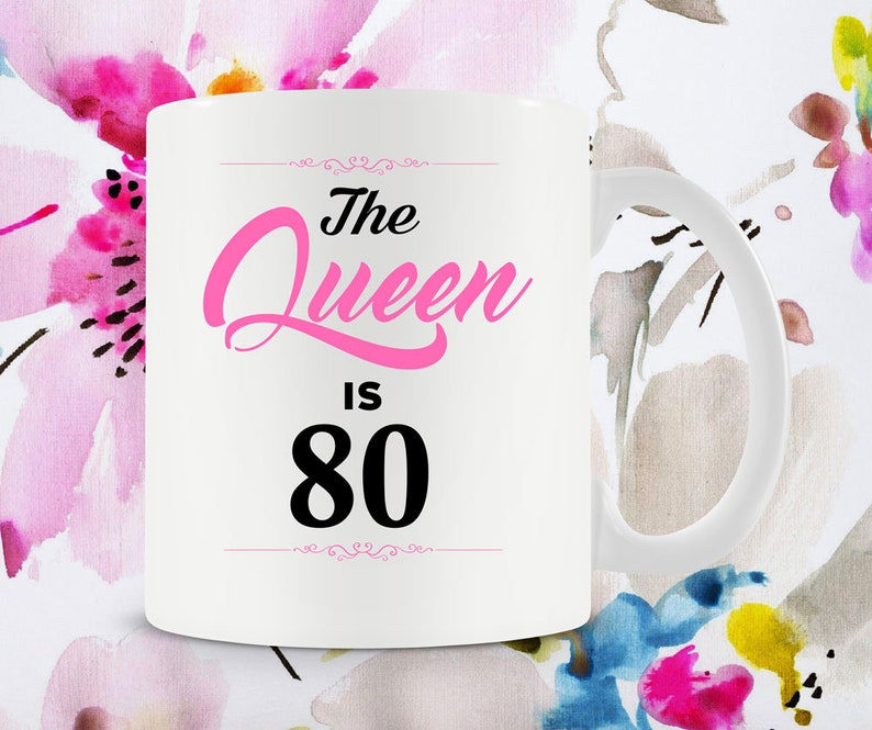 80th Birthday Gift Ideas For Her Mug Coffee Cup Grandma Birthd