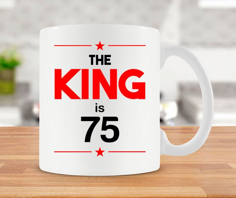 75th Birthday Mug Bday Gift Ideas For Men