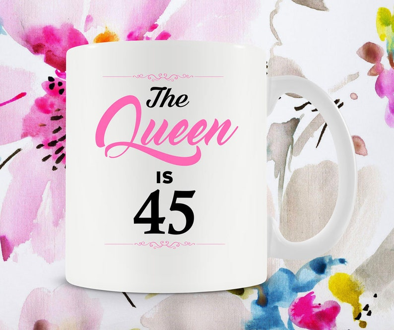 45th Birthday Gift Ideas For Women Coffee Cup