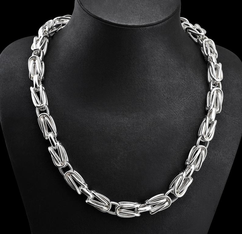 69cc94625a Mens Silver Chain Necklace Viking Silver Chain Scandinavian | Etsy