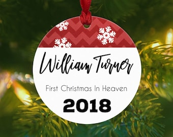 first christmas in heaven ornament memorial ornament personalized remembrance
