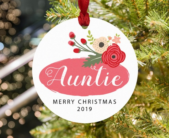 image 0 - Auntie Christmas Ornament Auntie Ornament Aunt Christmas Etsy