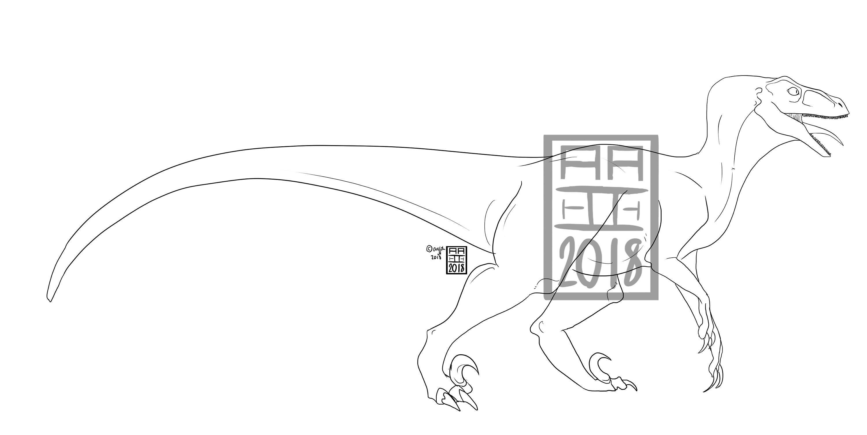Anpassbare Klassische Velociraptor Ausmalbild | Etsy