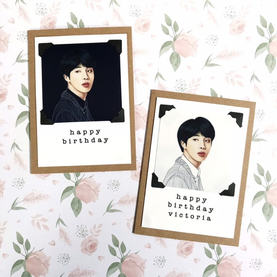 BTS Jin Greeting Card Customize